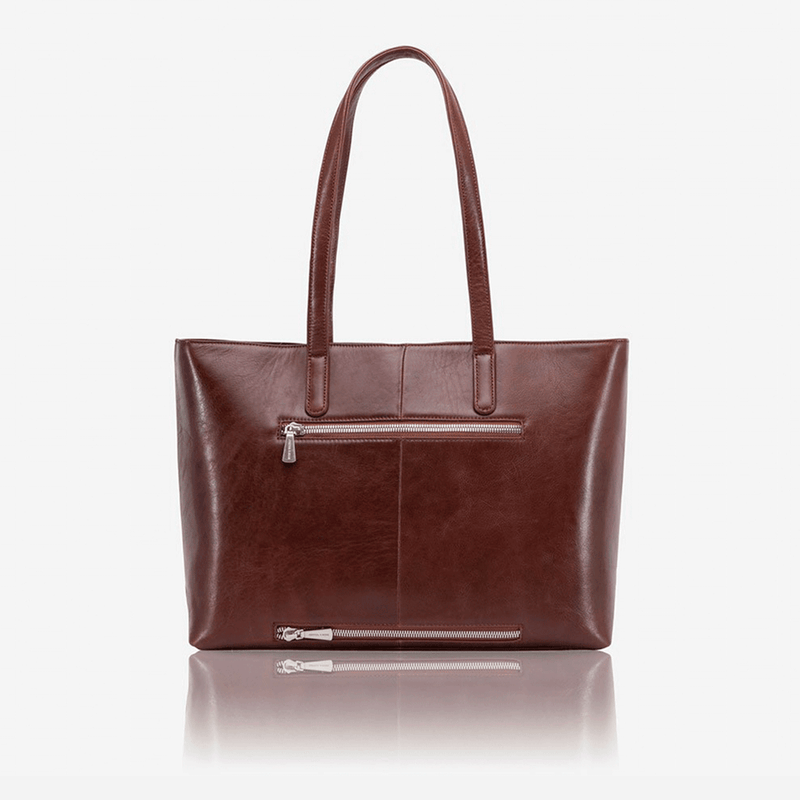 Large Ladies Laptop Shopper, Burgundy - Jekyll and Hide UK