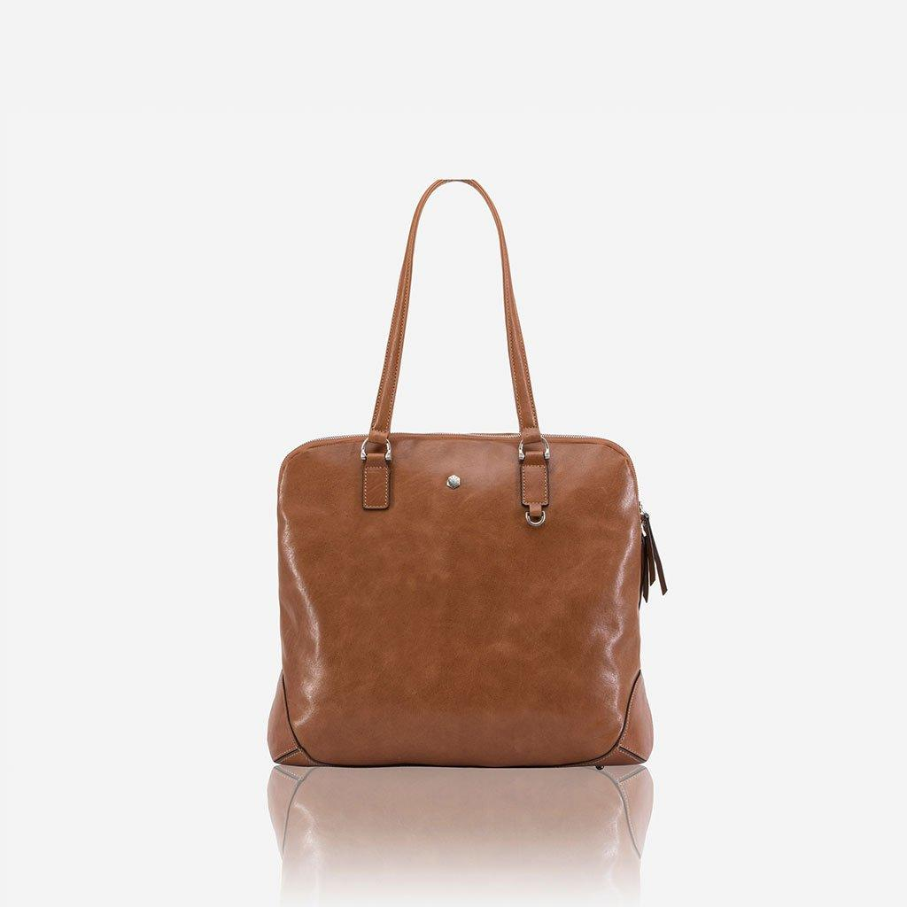 Large Ladies Laptop Shopper, Tan