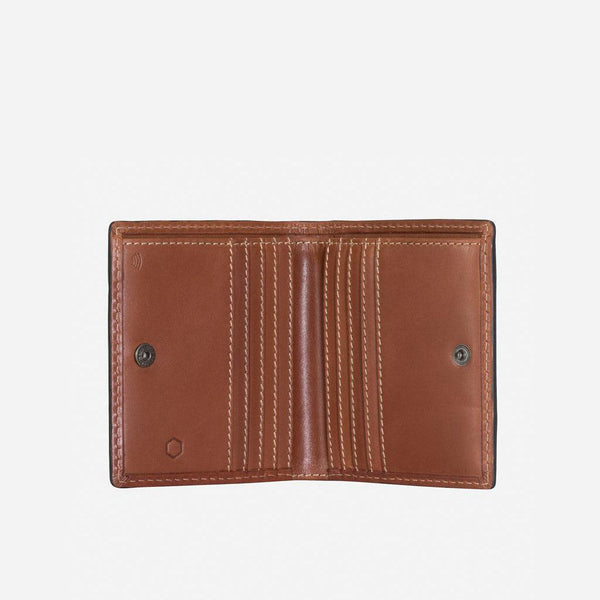 GIFTS UNDER £50 - Slim Bifold Wallet With Coin, Clay