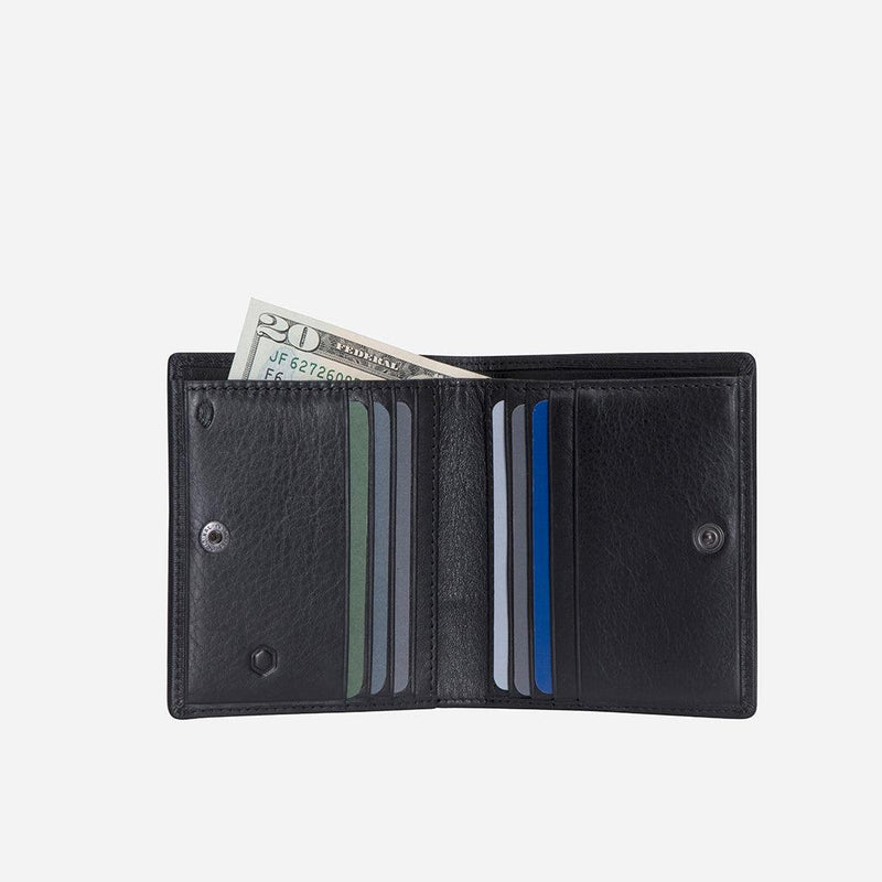 Slim Bifold Wallet with Coin, Camo - Jekyll and Hide UK