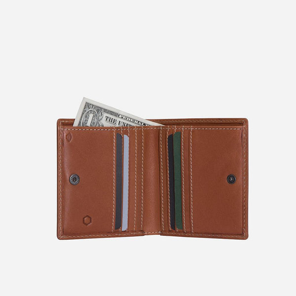 All Men's Wallets - Slim Bifold Wallet with Coin, Tan