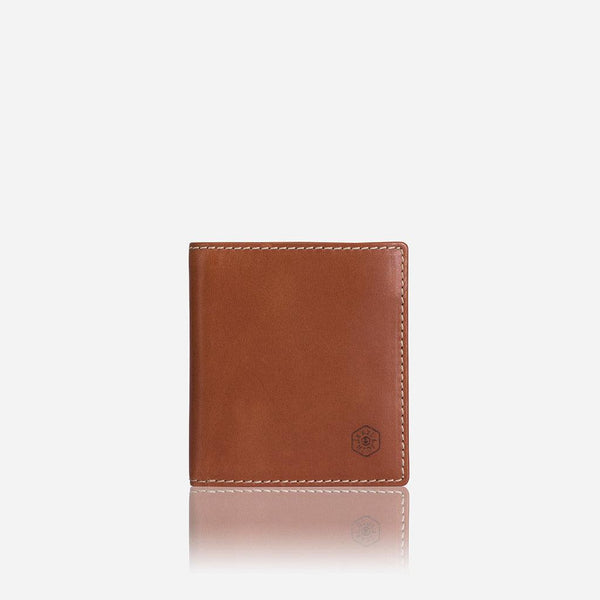 GIFTS UNDER £50 - Slim Bifold Wallet with Coin, Tan