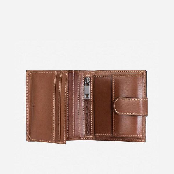 GIFTS UNDER £50 - Tri Fold Wallet With Coin And Tab, Clay