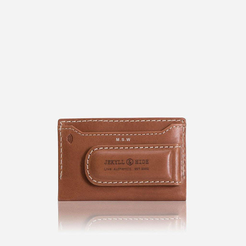 Money Clip Card Holder, Tan