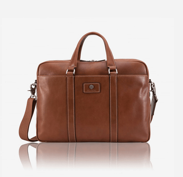Leather Business Bags for Women - Slim Laptop Briefcase, Colt