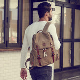 Casual Backpack 43cm, Khaki - Jekyll and Hide UK
