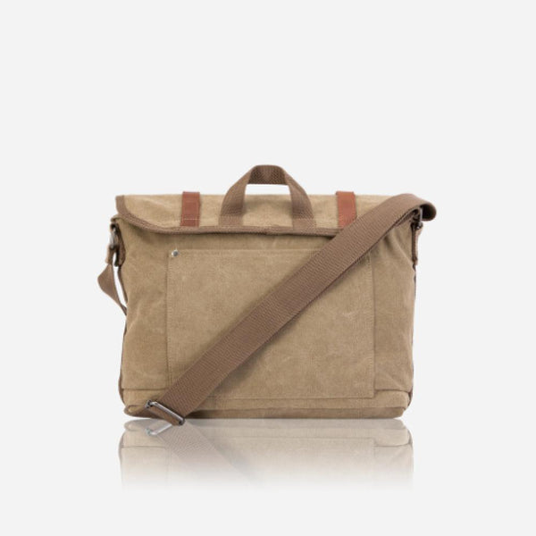 Leather Business Bags for Women - Casual Messenger, Khaki