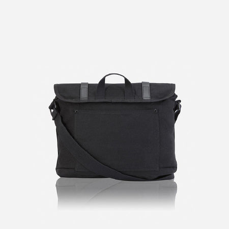 Casual Canvas Messenger, Black - Jekyll and Hide UK