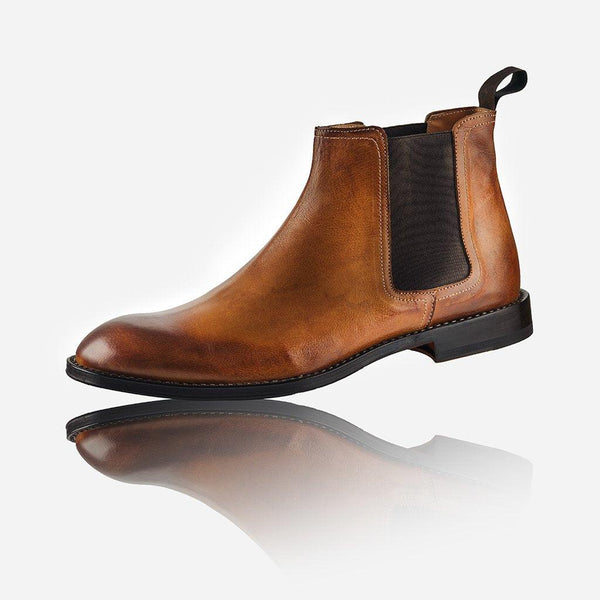 Men's Sale - Men's Leather Chelsea Boot, Tan