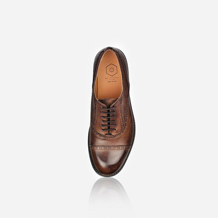 Men's Leather Brogue, Brown - Jekyll and Hide UK