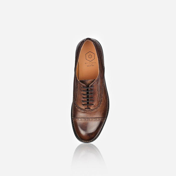 NAPOLI - Men's Leather Brogue, Brown