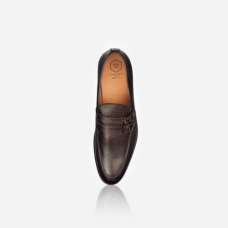 Men's Leather Monk Shoe, Brown - Jekyll and Hide UK