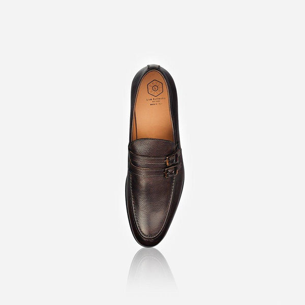 Men's Sale - Men's Leather Monk Shoe, Brown