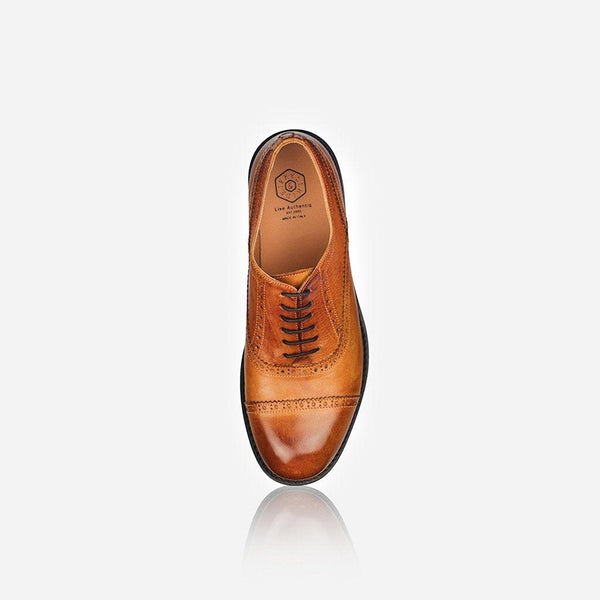 Men's Sale - Men's Leather Brogue, Tan