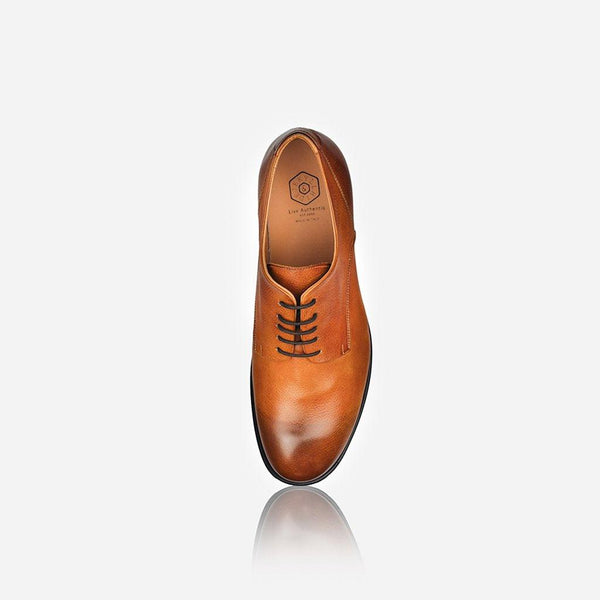NAPOLI - Men's Leather Lace Up Shoe, Tan