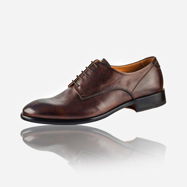 NAPOLI - Men's Leather Lace Up Shoe, Brown