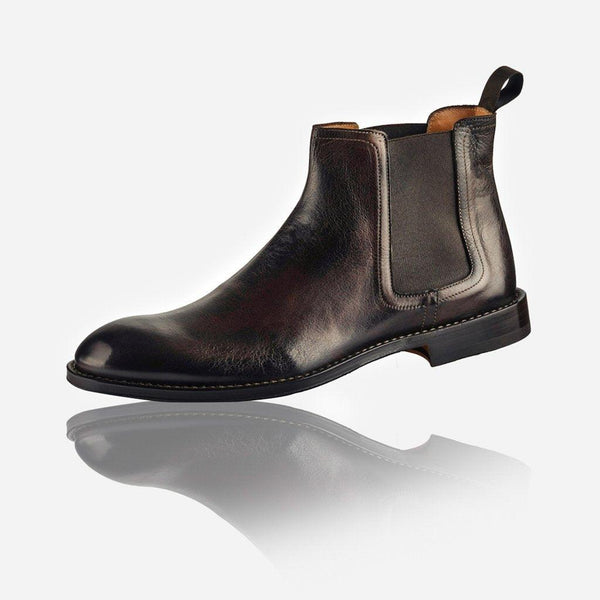 NAPOLI - Men's Leather Chelsea Boot, Brown