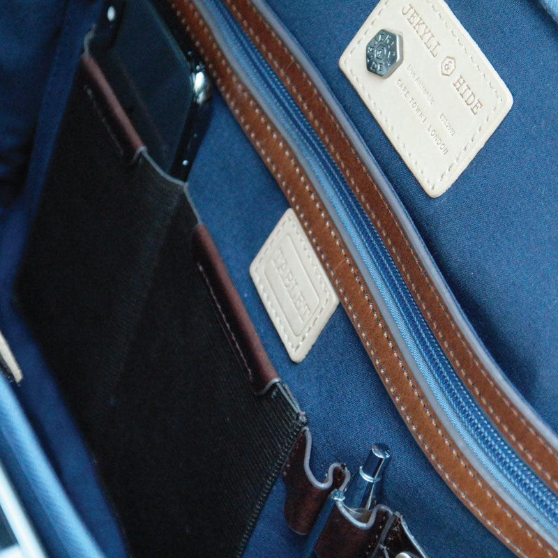 Large Multi Compartment Briefcase - Jekyll and Hide UK