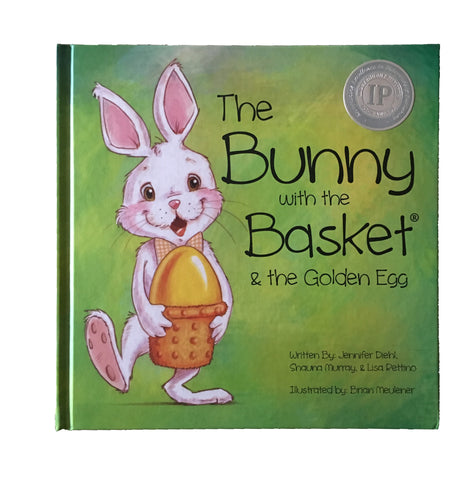 The Bunny with the Basket & the Golden Egg - Hardcover Book Only