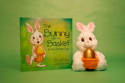 Bunny with the Basket in Cello Wrap