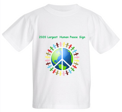 Children's 2020 Largest Human Peace Sign T-Shirt - Thanks for the support!