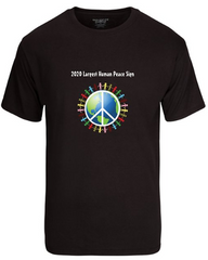 Men's 2020 Largest Human Peace Sign T-Shirt - Thanks for the support!
