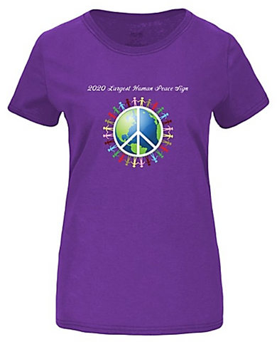 Women's 2020 Largest Human Peace Sign T-Shirt - Thanks for the support!
