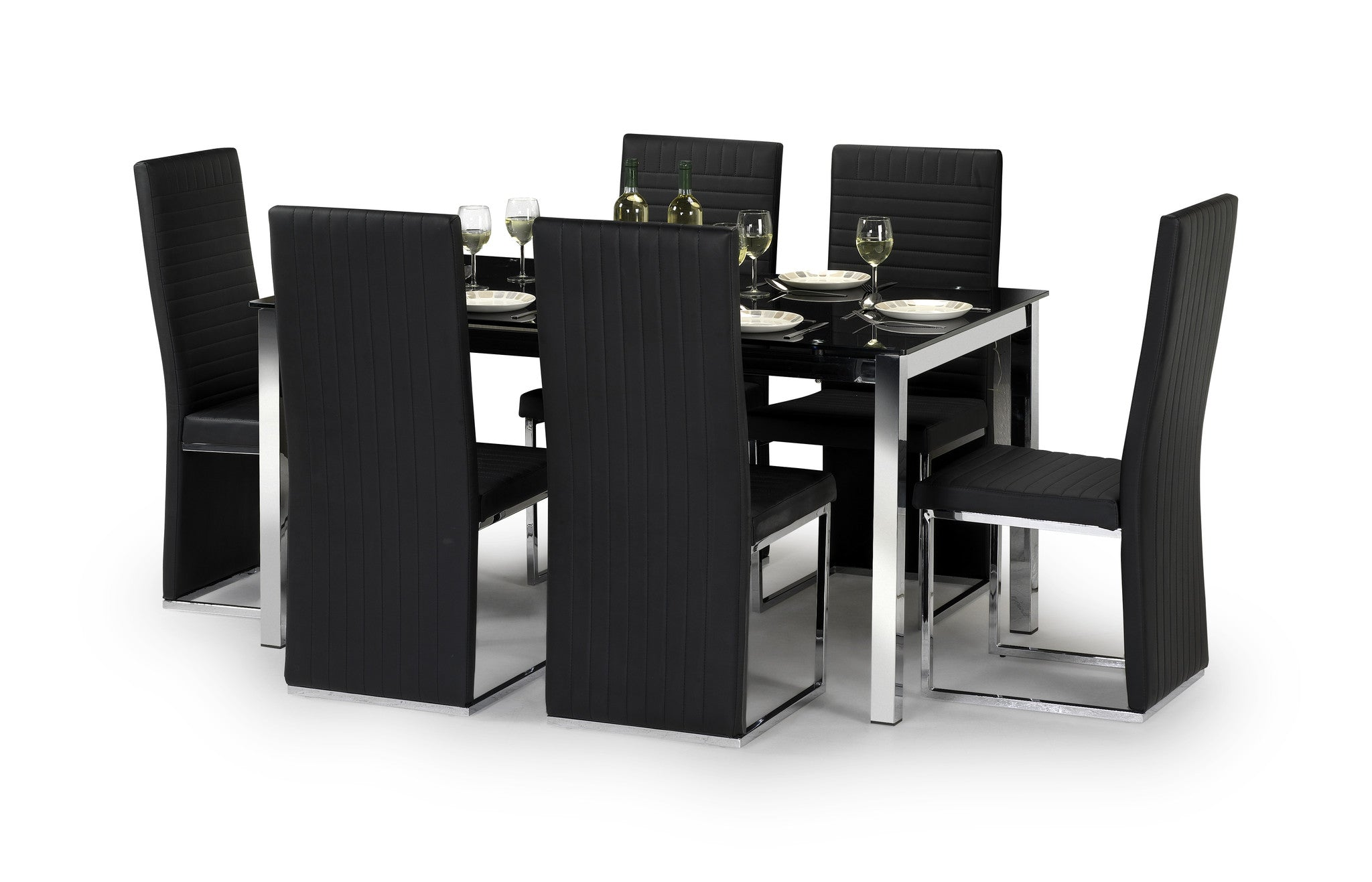 TEMPO DINING TABLE 6 CHAIRS Ideal Furnishings
