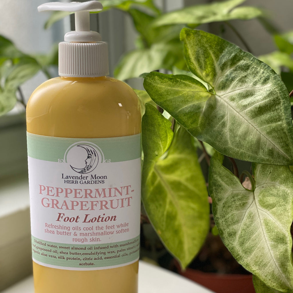 Peppermint-Grapefruit Foot Lotion