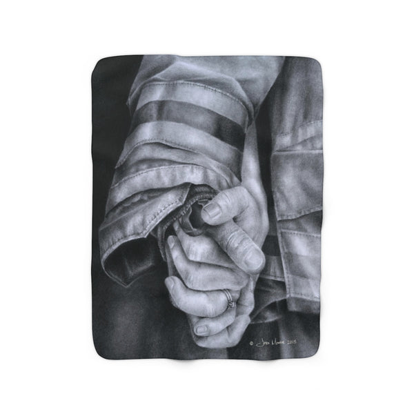 """Commitment"" Sherpa Fleece Blanket"