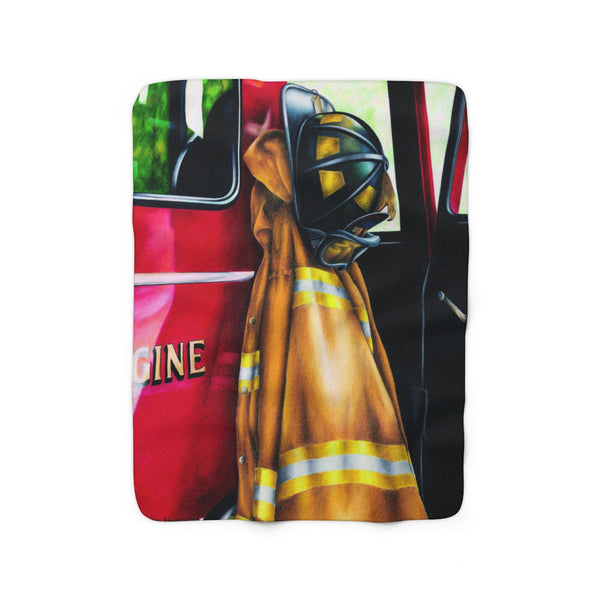 """Waiting For The Call"" Sherpa Fleece Blanket"