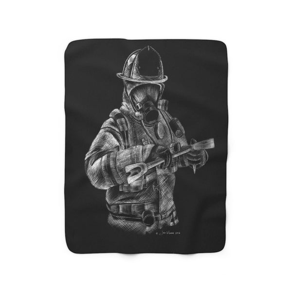 """Halligan"" Sherpa Fleece Blanket"