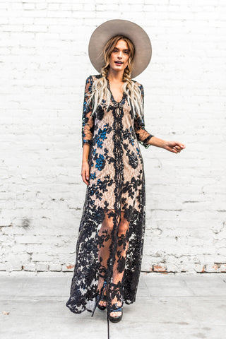 Heidi Maxi in Luxe Sequined Lace
