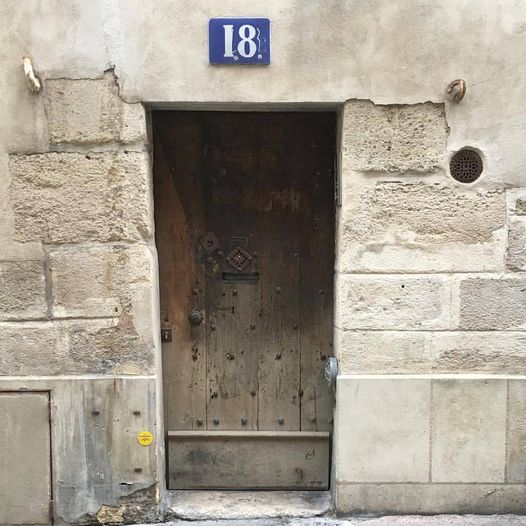 French Number 18 - A very old Paris door on the edge of the Latin Quarter, one of the oldest part of Paris