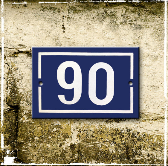 discounted enamel house number 90