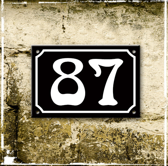 Discounted black enamel house number 87
