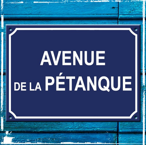 Sign - Avenue de la Patanque - 350mm x 250mm