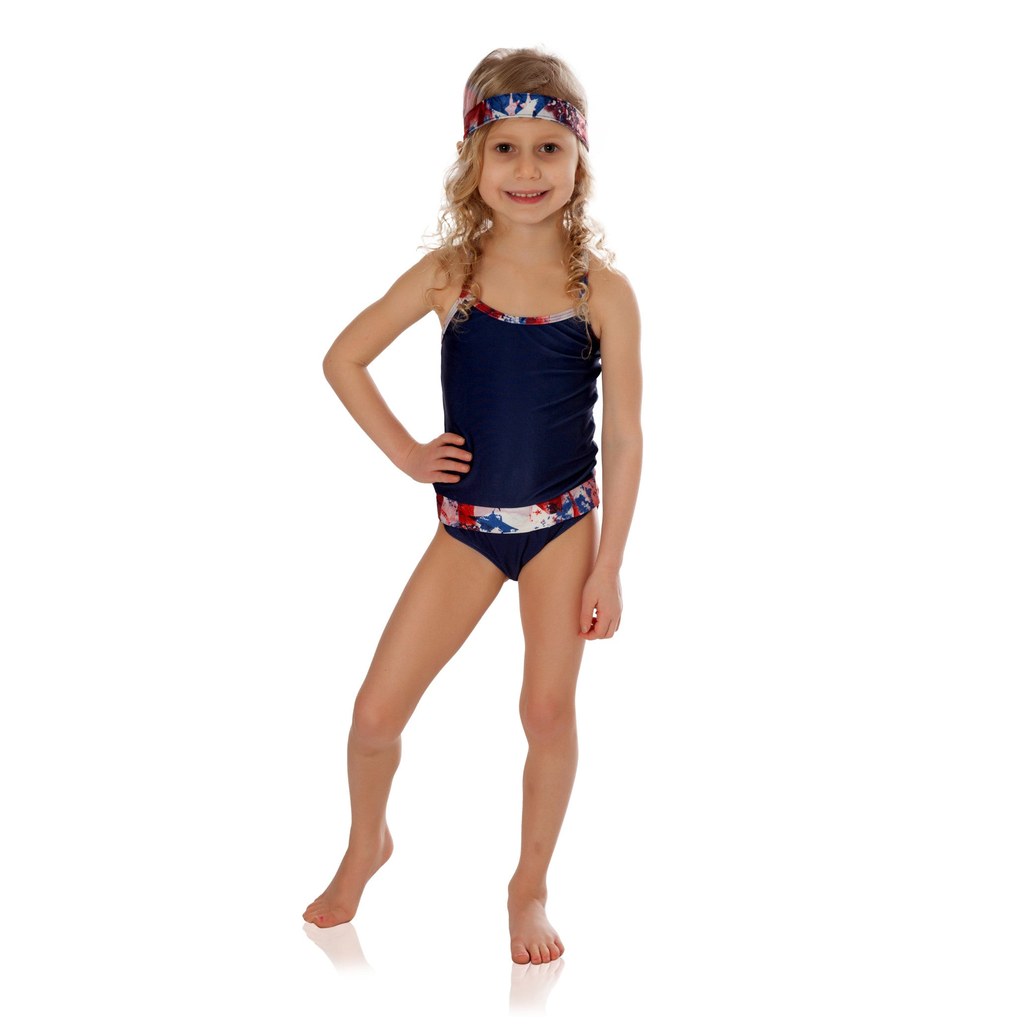 Indigo with Americana Bathing Suit