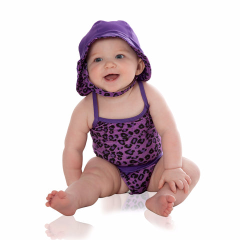 Purple Cheetah with Purple Bathing Suit