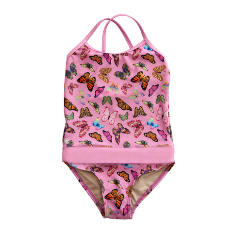 Butterflies with Rose Bathing Suit