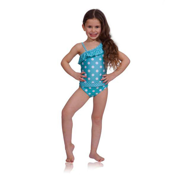 e6a4192580391 Girls Bathing Suits - One Piece Polka Dot - OPENS FOR EASY POTTY ...