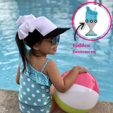 Aqua Polka Dot One-Shoulder Swimsuit with Ruffle