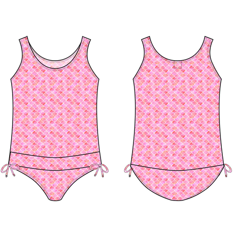 PRE-ORDER FOR 11/2018 DELIVERY! <br> Melon Mermaid Tank One-Piece Swimsuit