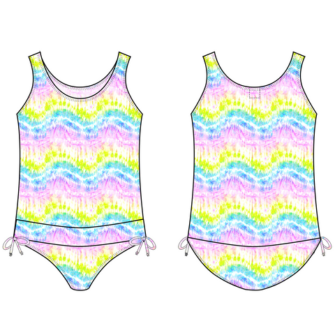 PRE-ORDER FOR 11/2018 DELIVERY! <br> Tie-dye Tank One-Piece Swimsuit