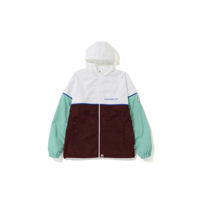 "A BATHING APE COLOR BLOCK TRACK TOP  "" WINE """