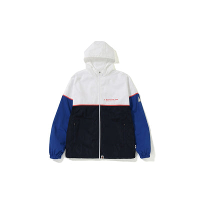 "A BATHING APE COLOR BLOCK TRACK TOP  "" NAVY """