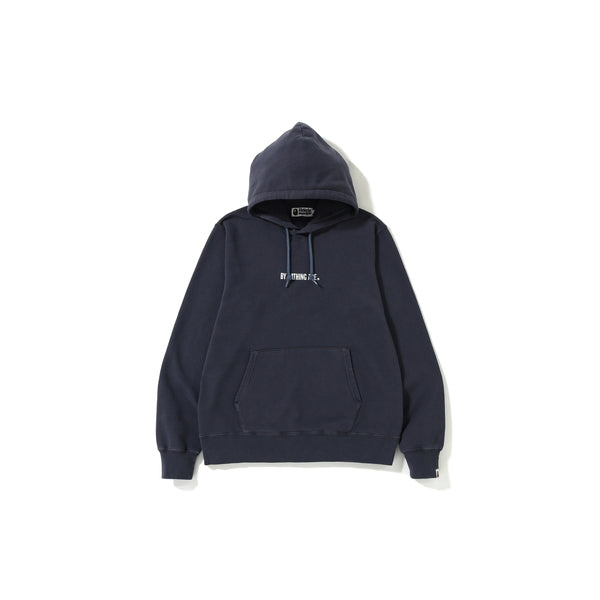 "A BATHING APE WASHED WIDE PULLOVER HOODIE  "" BLACK """