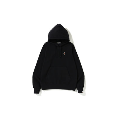 "A BATHING APE SILICON ONE POINT PULLOVER HOODIE  "" BLACK """