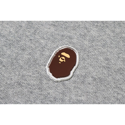 "A BATHING APE SILICON ONE POINT PULLOVER HOODIE  "" GREY """