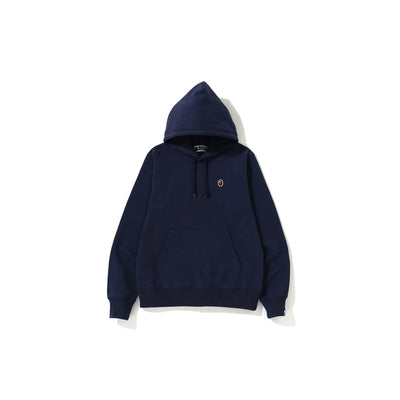"A BATHING APE SILICON ONE POINT PULLOVER HOODIE  "" NAVY """
